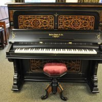 Hallet and Davis Upright Piano