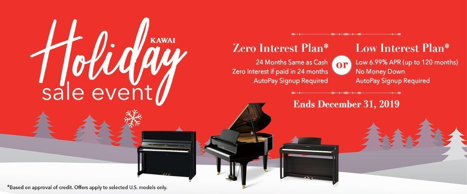 Kawai Holiday Sale Event Ad