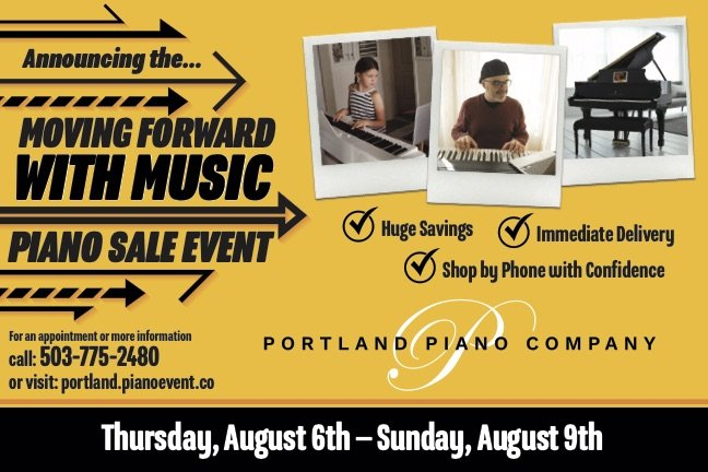 Moving Forward with Music Piano Sale Event