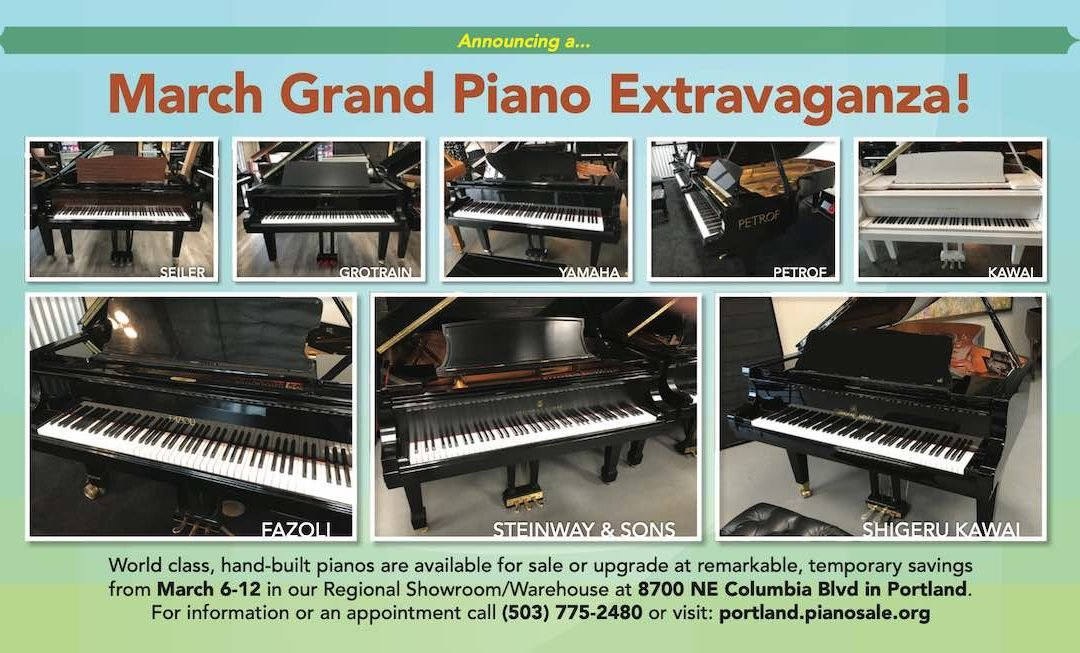 Portland March Grand Piano Extravaganza!
